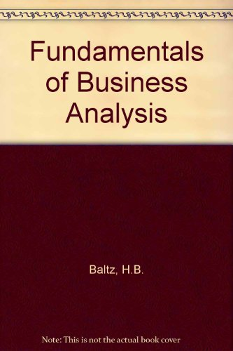 9780133344660: Fundamentals of Business Analysis