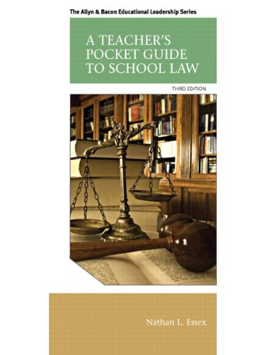 9780133351910: A Teacher's Pocket Guide to School Law (3rd Edition) (Allyn & Bacon Educational Leadership)