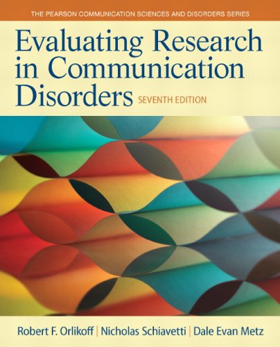 9780133352016: Evaluating Research in Communication Disorders (7th Edition) (Pearson Communication Sciences and Disorders)