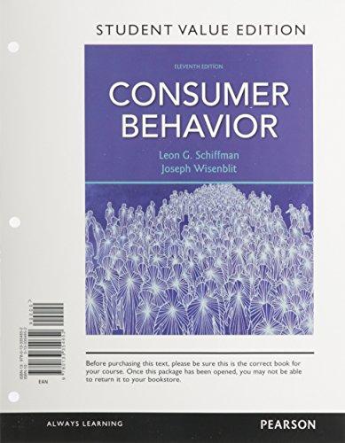 9780133354652: Consumer Behavior, Student Value Edition