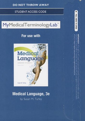 9780133355758: NEW MyMedicalTerminologyLab without Pearson eText -- Access Card -- for Medical Language