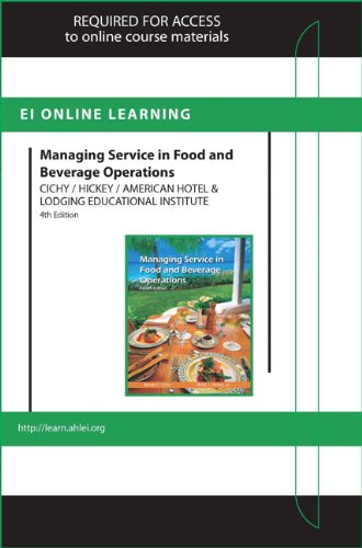9780133356106: Managing Service in F&B Operations Online Component (AHLEI) -- Access Card