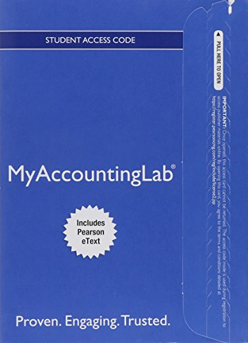 9780133356366: NEW MyAccountingLab with Pearson eText -- Standalone Access Card -- for Horngren's Financial & Managerial Accounting: The Financial Chapters