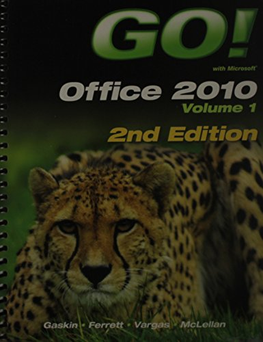 9780133360684: GO! with Office 2010 Volume 1 and GO! with Windows 7 Getting Started with Student CD