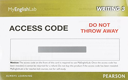 9780133360943: MyEnglishLab Writing 3 (Student Access Code)