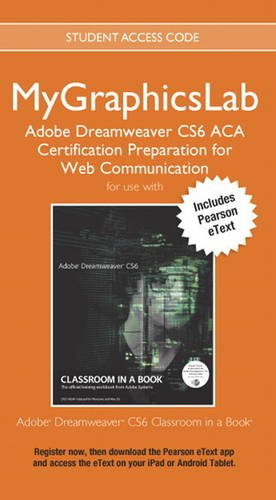 9780133363135: Mygraphicslab Adobe Dreamweaver Cs6 Aca