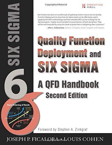 9780133364439: Quality Function Deployment and Six Sigma: A QFD Handbook (QFD Handbooks)