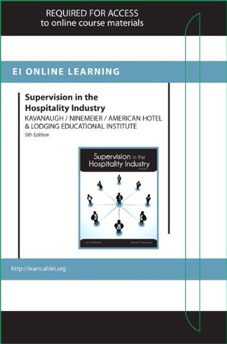 9780133365375: Supervision in the Hospitality Industry Online Component (AHLEI) -- Access Card