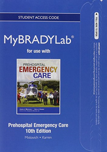 9780133369700: NEW MyBradyLab without Pearson eText -- Access Card -- for Prehospital Emergency Care