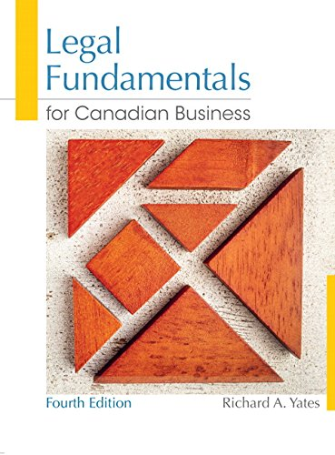 Legal Fundamentals for Canadian Business: Yates