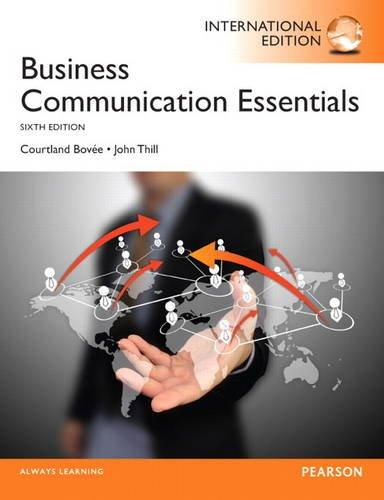 9780133373080: Business Communication Essentials: International Edition