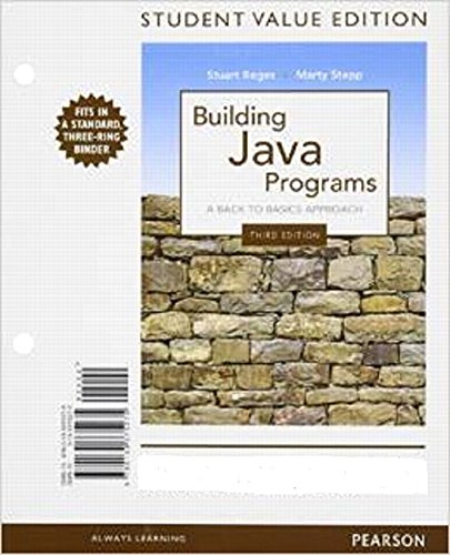 9780133375275: Building Java Programs, Student Value Edition (3rd Edition)
