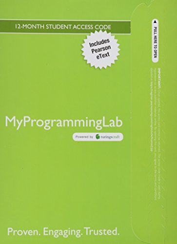 9780133379686: MyProgrammingLab with Pearson eText -- Access Card -- for Introduction to Programming with C++