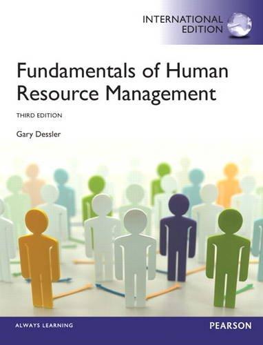 9780133382952 fundamentals of human resource management9780133382952 fundamentals of human resource management international edition