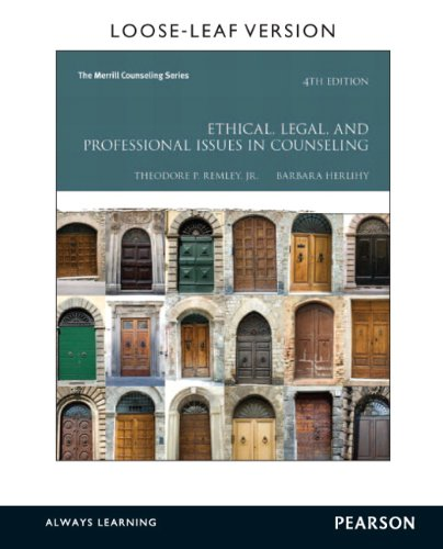 9780133388961: Ethical, Legal, and Professional Issues in Counseling, Loose-Leaf Version (4th Edition) (Merrill Counseling)