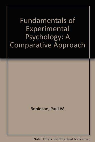 9780133391350: Fundamentals of Experimental Psychology: A Comparative Approach