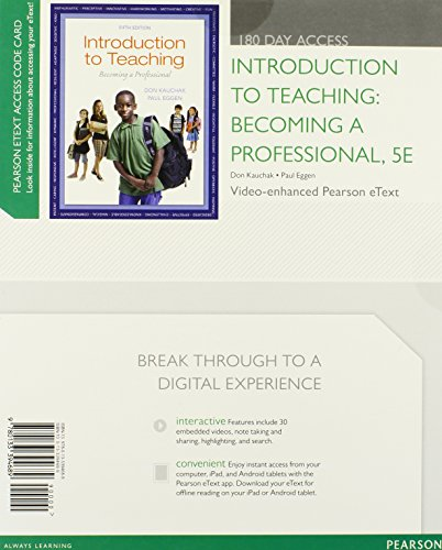 9780133394689: Introduction to Teaching: Becoming a Professional, Video-Enhanced Pearson eText -- Access Card (5th Edition)