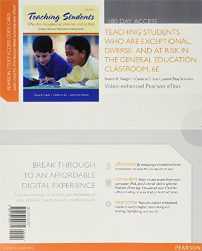 9780133394771: Teaching Students Who are Exceptional, Diverse, and At Risk in the General Education Classroom, Video-Enhanced Pearson eText -- Access Card (6th Edition)