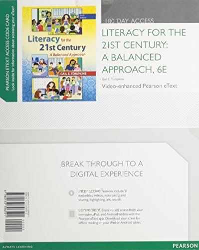 9780133396591: Literacy for the 21st Century: A Balanced Approach, Video-Enhanced Pearson eText -- Access Card (6th Edition)