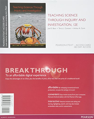Teaching Science Through Inquiry and Investigation, Enhanced: Contant, Terry L.;