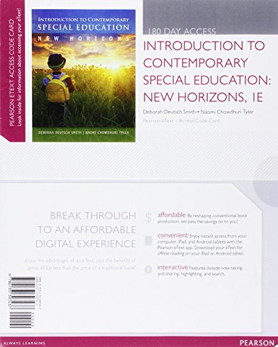Introduction to Contemporary Special Education: New Horizons,: Smith, Deborah Deutsch;