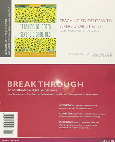 9780133398069: Teaching Students with Severe Disabilities, Pearson eText -- Access Card