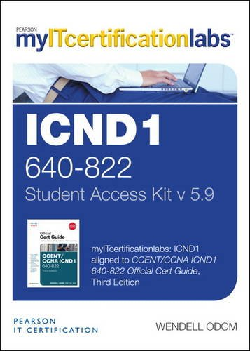9780133400410: CCENT/CCNA ICND1 (640-802) V5.9 MyITCertificationLab -- Access Card