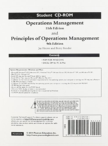 9780133401561: Student CD for Operations Management