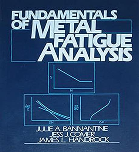 Fundamentals of Metal Fatigue Analysis - Bannantine, Julie A.