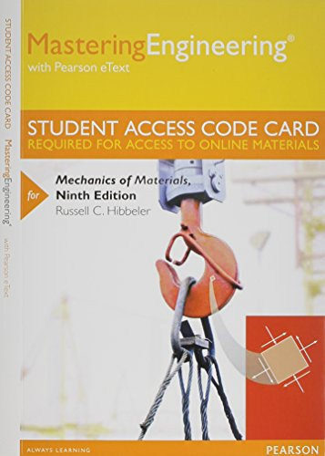 9780133402735: MasteringEngineering with Pearson eText -- Standalone Access Card -- for Mechanics of Materials