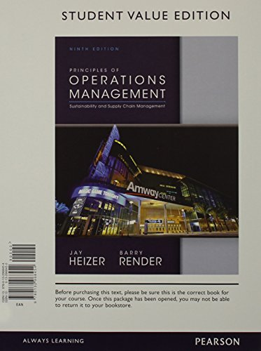 9780133404456: Principles of Operations Management, Student Value Edition & Student CD for Operations Management