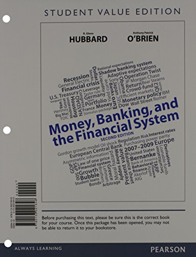 9780133405040: Money, Banking, and the Financial system, Student Value Edition Plus NEW MyEconLab with Pearson eText -- Access Card Package (2nd Edition)