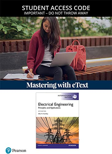 9780133405620: MasteringEngineering with Pearson eText -- Standalone Access Card -- for Electrical Engineering: Principles & Applications
