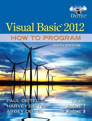 9780133406955: Visual Basic 2012 How to Program (6th Edition)