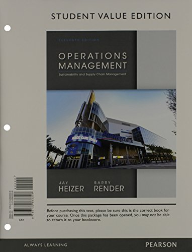 9780133407983: Operations Management, Student Value Edition & Student CD for Operations Management (11th Edition)