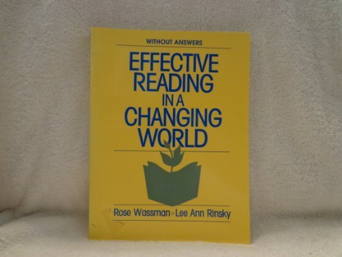 9780133408034: Effective reading in a changing world