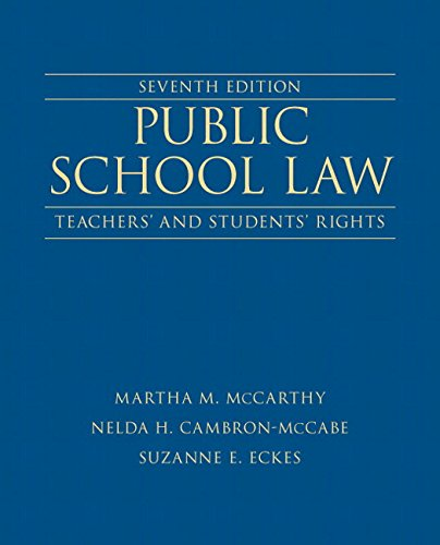 9780133411072: Public School Law: Teachers' and Students' Rights Plus NEW MyEdLeadershipLab with Pearson eText -- Access Card (7th Edition) (New 2013 Ed Leadership Titles)