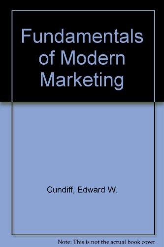 9780133413885: Fundamentals of Modern Marketing