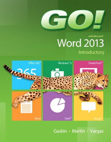 9780133417340: GO! with Microsoft Word 2013 Introductory