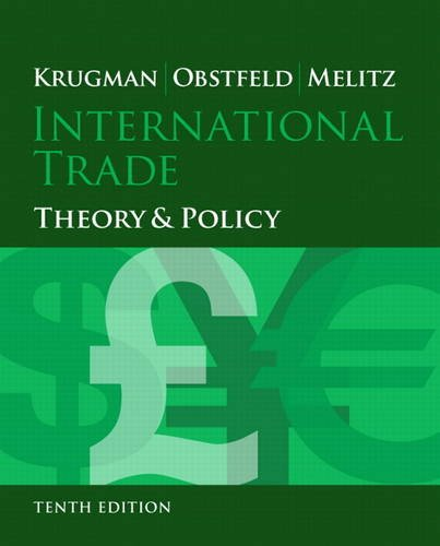 9780133423679: International Trade: Theory and Policy