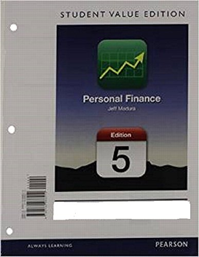 9780133423969: Personal Finance, Student Value Edition Plus NEW MyFinanceLab with Pearson eText --- Access Card Package (5th Edition) (The Pearson Series in Finance)