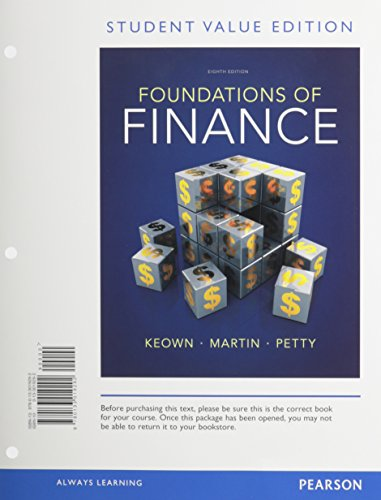 9780133423983: Foundations of Finance, Student Value Edition Plus NEW MyFinanceLab with Pearosn eText -- Access Card Packge (8th Edition) (Pearson Series in Finance)