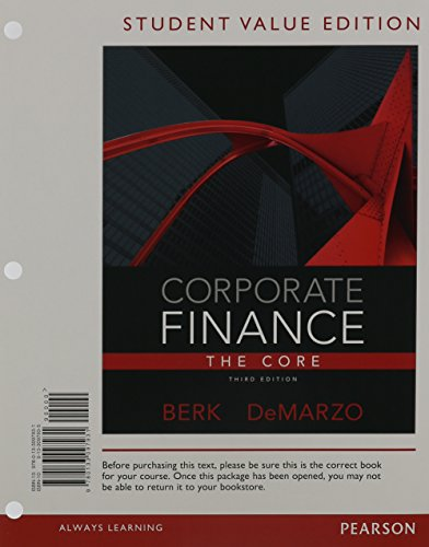 9780133424126: Corporate Finance: The Core, Student Value Edition Plus NEW MyFinanceLab with Pearson eText ---Access Card Package (3rd Edition) (Pearson Series in Finance)