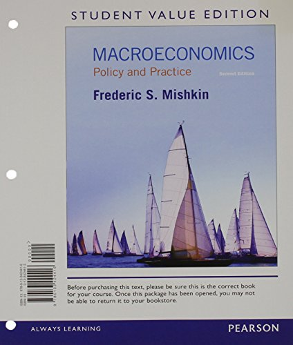 9780133424416: Macroeconomics: Policy & Practice, Student Value Edition (2nd Edition)