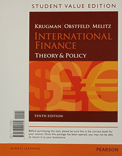 9780133425895: International Finance: Theory and Policy, Student Value Edition (10th Edition)