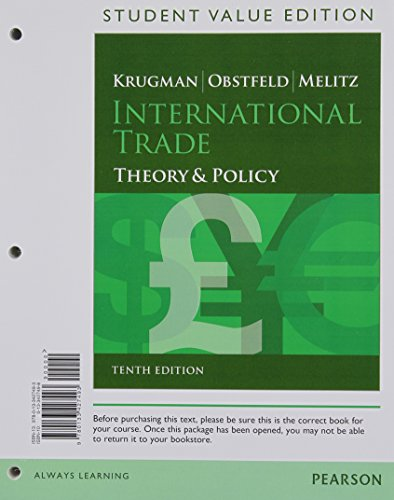 9780133427493: International Trade: Theory and Policy, Student Value Edition (10th Edition)