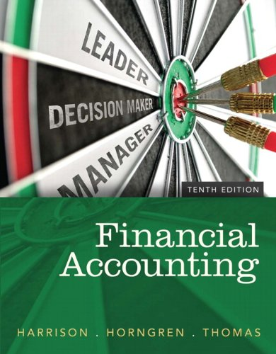 Financial Accounting, 10th Edition: Harrison Jr., Walter