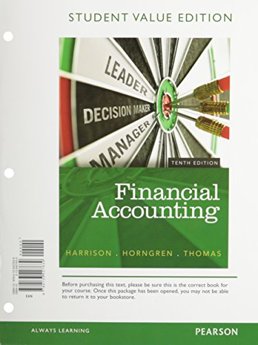 9780133427639: Financial Accounting, Student Value Edition (10th Edition)