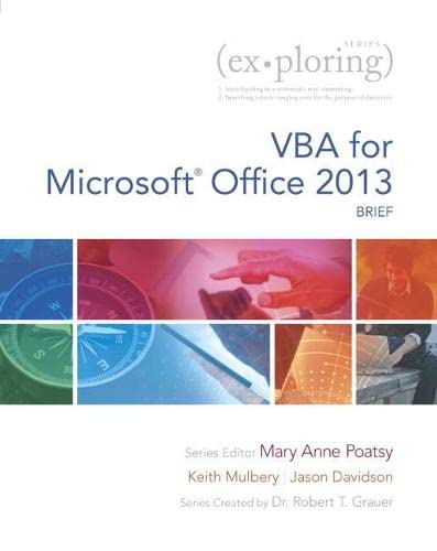 9780133428162: VBA for Microsoft Office 2013, Brief (Exploring)