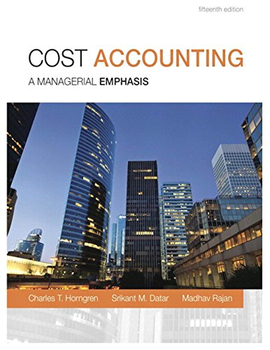 9780133428704: Cost Accounting: A Managerial Emphasis
